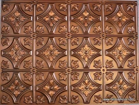 BP-10 Aged Copper Faux Tin PVC Panel - Talissa Signature Collection