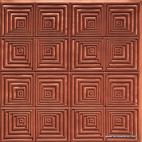 115 Copper Faux Tin Ceiling Tile