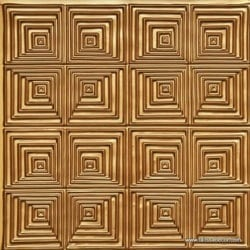 115 Gold Faux Tin Ceiling Tile