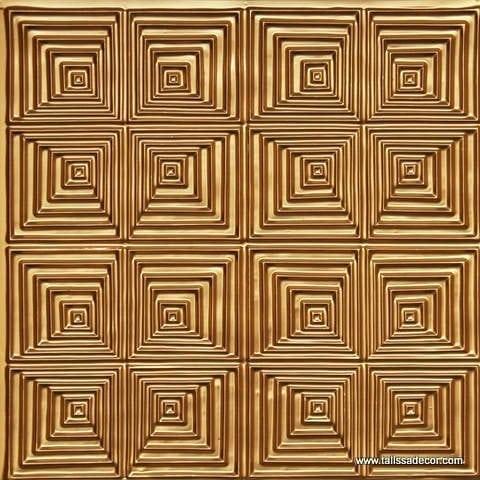 115 Gold Faux Tin Ceiling Tile