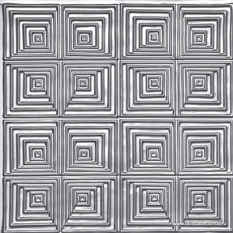 115 Silver Faux Tin Ceiling Tile