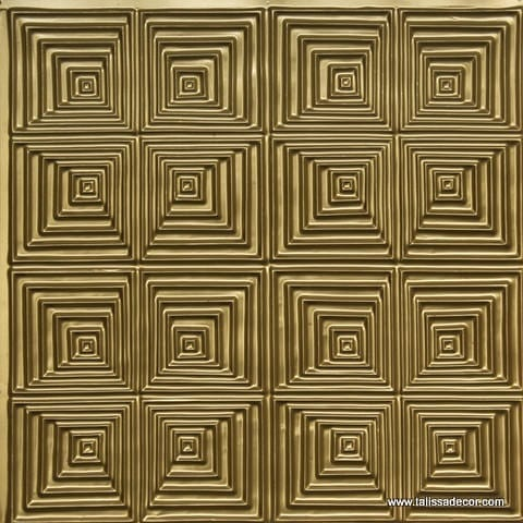 115 Brass Faux Tin Ceiling Tile