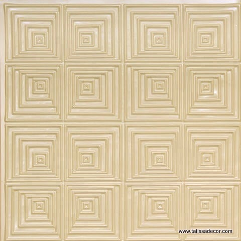 115 Cream Pearl Faux Tin Ceiling Tile