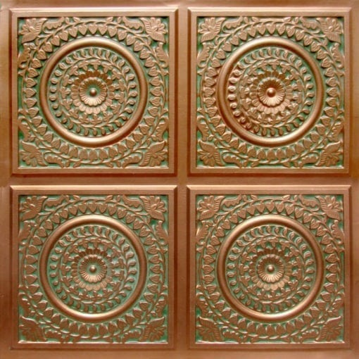 117 Patina Copper Faux Tin Ceiling Tile