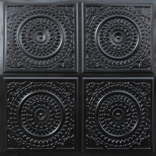 117 Black Glossy Faux Tin Ceiling Tile