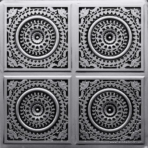 117 Antique Silver Faux Tin Ceiling Tile