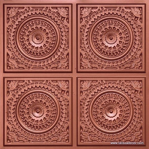 117 Copper Faux Tin Ceiling Tile