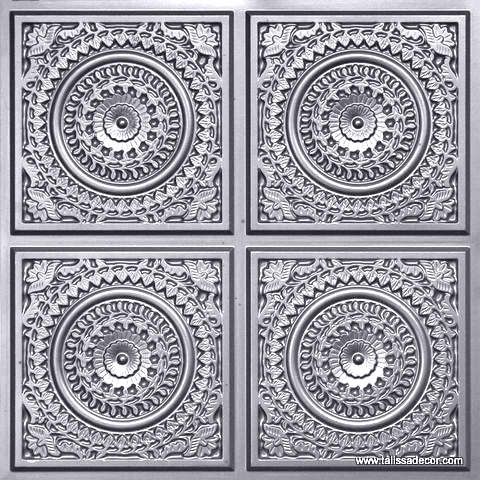 117 Silver Faux Tin Ceiling Tile