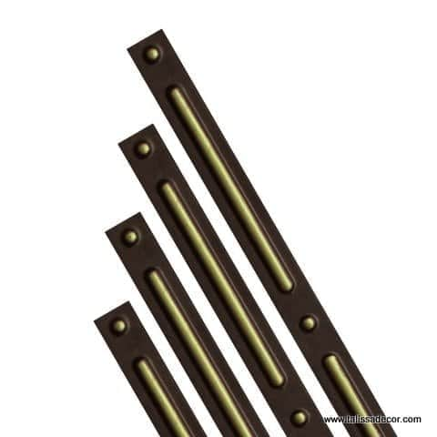 G2 - Grid Cover Strips - Antique Brass