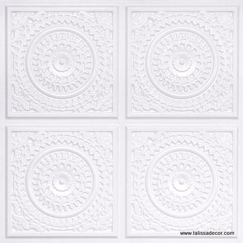 117 White Pearl Faux Tin Ceiling Tile