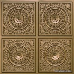 117 Brass Faux Tin Ceiling Tile