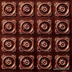 118 Faux Tin Ceiling Tile - Antique Copper