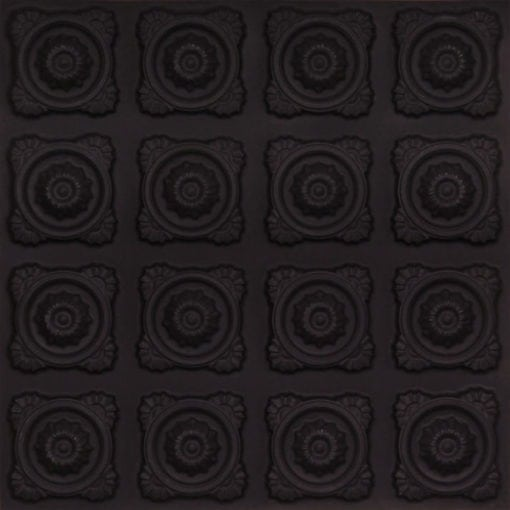 118 Faux Tin Ceiling Tile - Black Matte