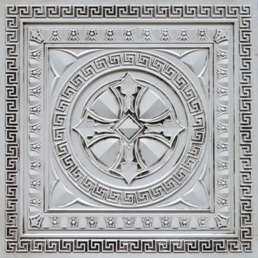 TD01 Antique White Faux Tin Ceiling Tile - Talissa Signature Collection