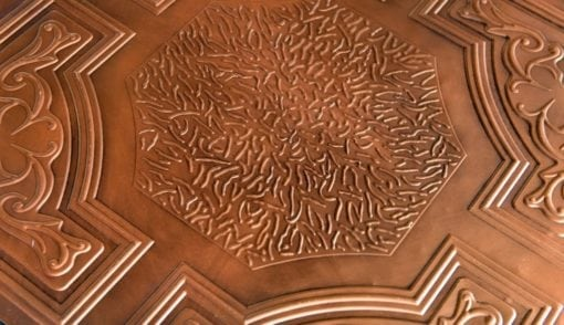 TD02 Aged Copper Faux Tin Ceiling Tile