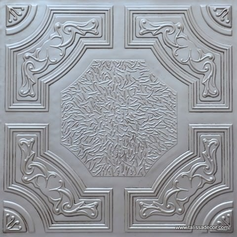 TD02 Antique White Faux Tin Ceiling Tile