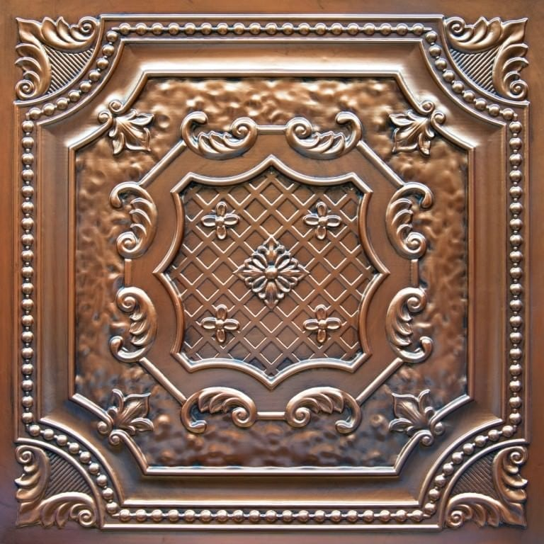 TD04 Aged Copper Faux Tin Ceiling Tile