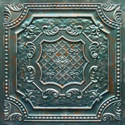 TD04 Patina Copper Faux Tin Ceiling Tile