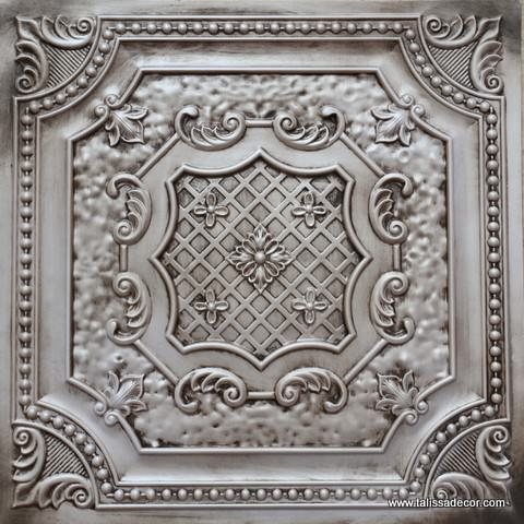 TD04 Antique White Faux Tin Ceiling Tile