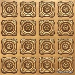 118 Faux Tin Ceiling Tile - Gold