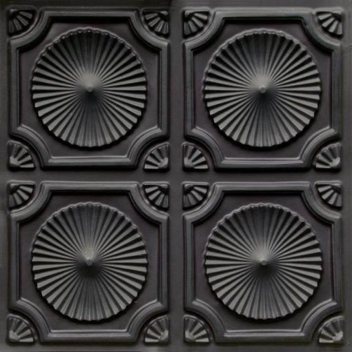 106 Black Matte  Faux Tin Ceiling Tile