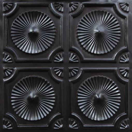 106 Black Glossy Faux Tin Ceiling Tile