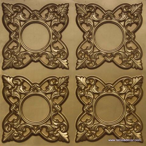 133 Brass Faux Tin Ceiling Tile