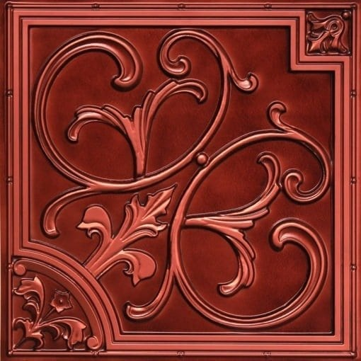 204  Brushed Copper Faux Tin Ceiling Tile