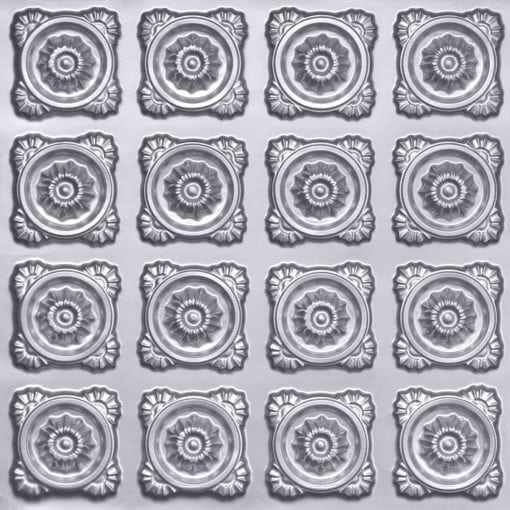 118 Faux Tin Ceiling Tile - Silver