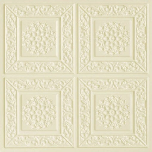 203 Cream Pearl Faux Tin Ceiling Tile