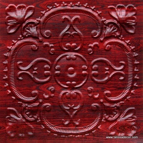 217 Rosewood Faux Tin Ceiling Tile