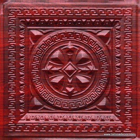 220 Rosewood Faux Tin Ceiling Tile