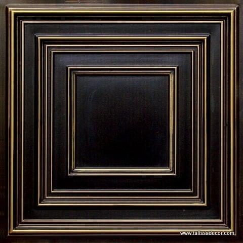 222 Antique Brass Faux Tin Ceiling Tile