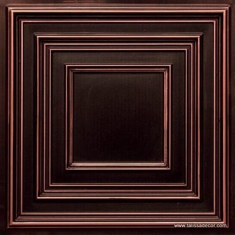 222 Antique CopperFaux Tin Ceiling Tile