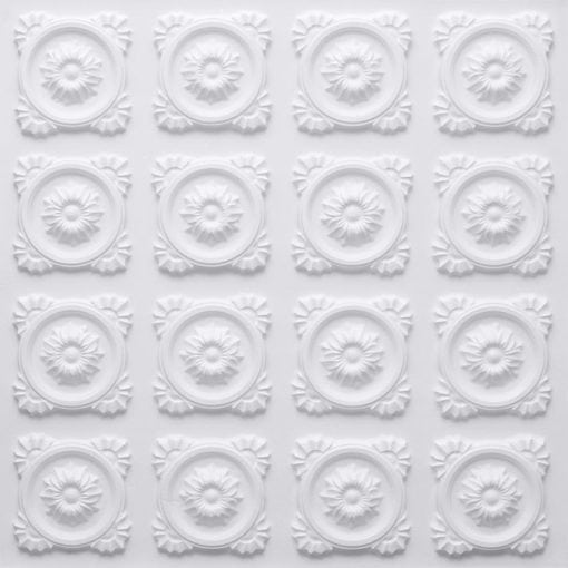 118 Faux Tin Ceiling Tile - White Matte