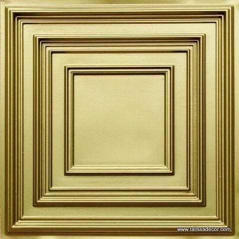 222 Brass Faux Tin Ceiling Tile