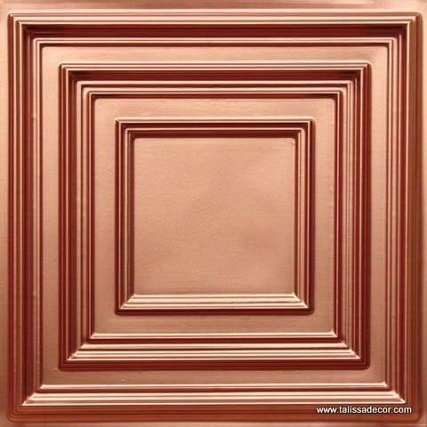 222 Copper Faux Tin Ceiling Tile