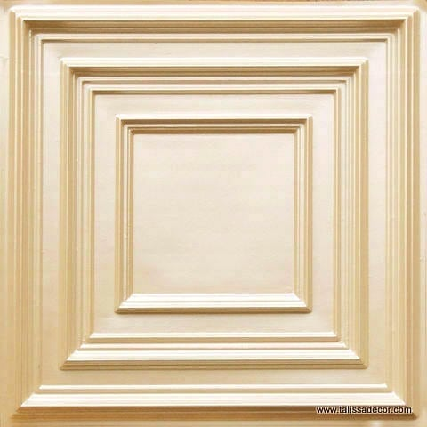 222 Cream Pearl Faux Tin Ceiling Tile