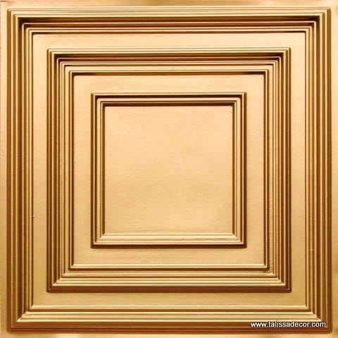 222 Gold Faux Tin Ceiling Tile