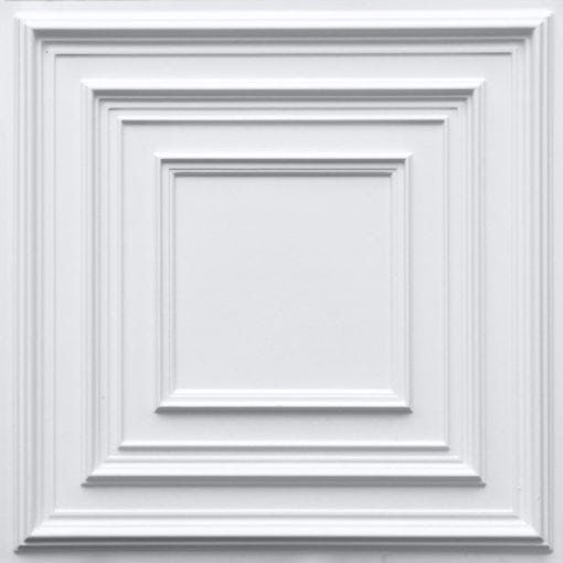 222 White Matte Faux Tin Ceiling Tile