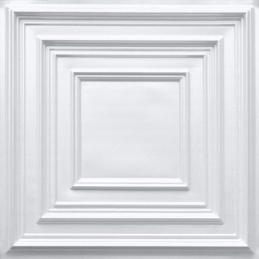 222 White Pearl Faux Tin Ceiling Tile