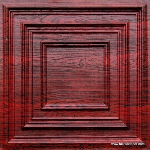 222 Rosewood Faux Tin Ceiling Tile