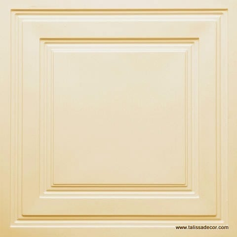 232 Cream Pearl Faux Tin Ceiling Tile