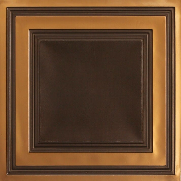 232 Antique Gold Faux Tin Ceiling Tile