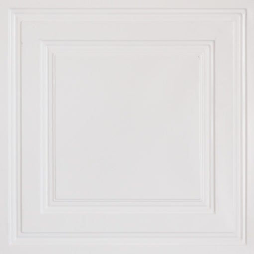 232 White Matte Faux Tin Ceiling Tile