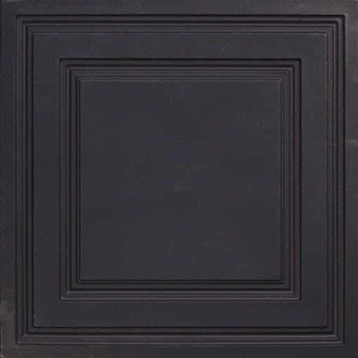 232 Black Matte  Faux Tin Ceiling Tile