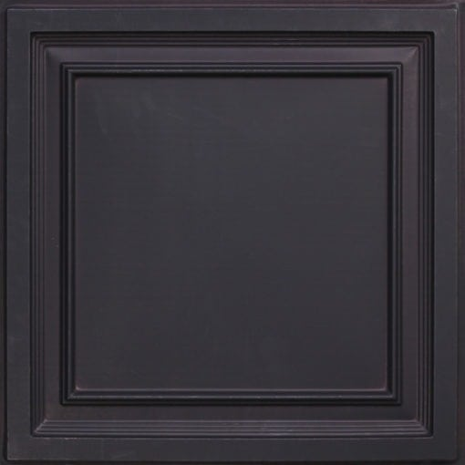 233 Black Matte  Faux Tin Ceiling Tile