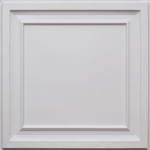 233 White Matte Faux Tin Ceiling Tile