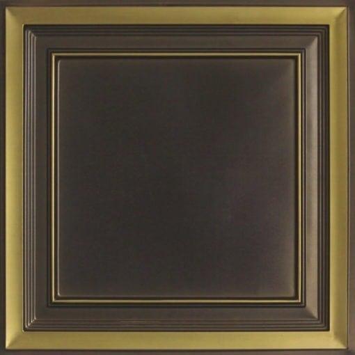 233 Antique Brass Faux Tin Ceiling Tile