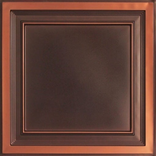 233 Antique Copper Faux Tin Ceiling Tile